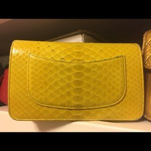 CHANEL yellow python WOC
